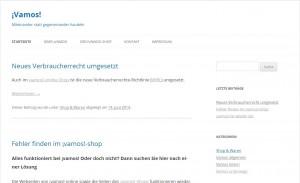 Abbildung Webseite www.vamos-online.de