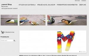 Abbildung Webseite www.vamos-online.de Shop